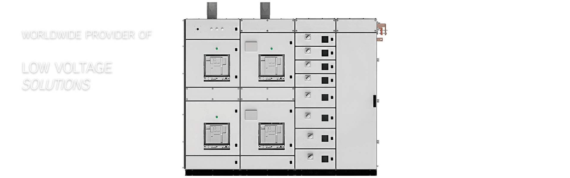 the logstrup electrical switchboard seen from the outside in 3D