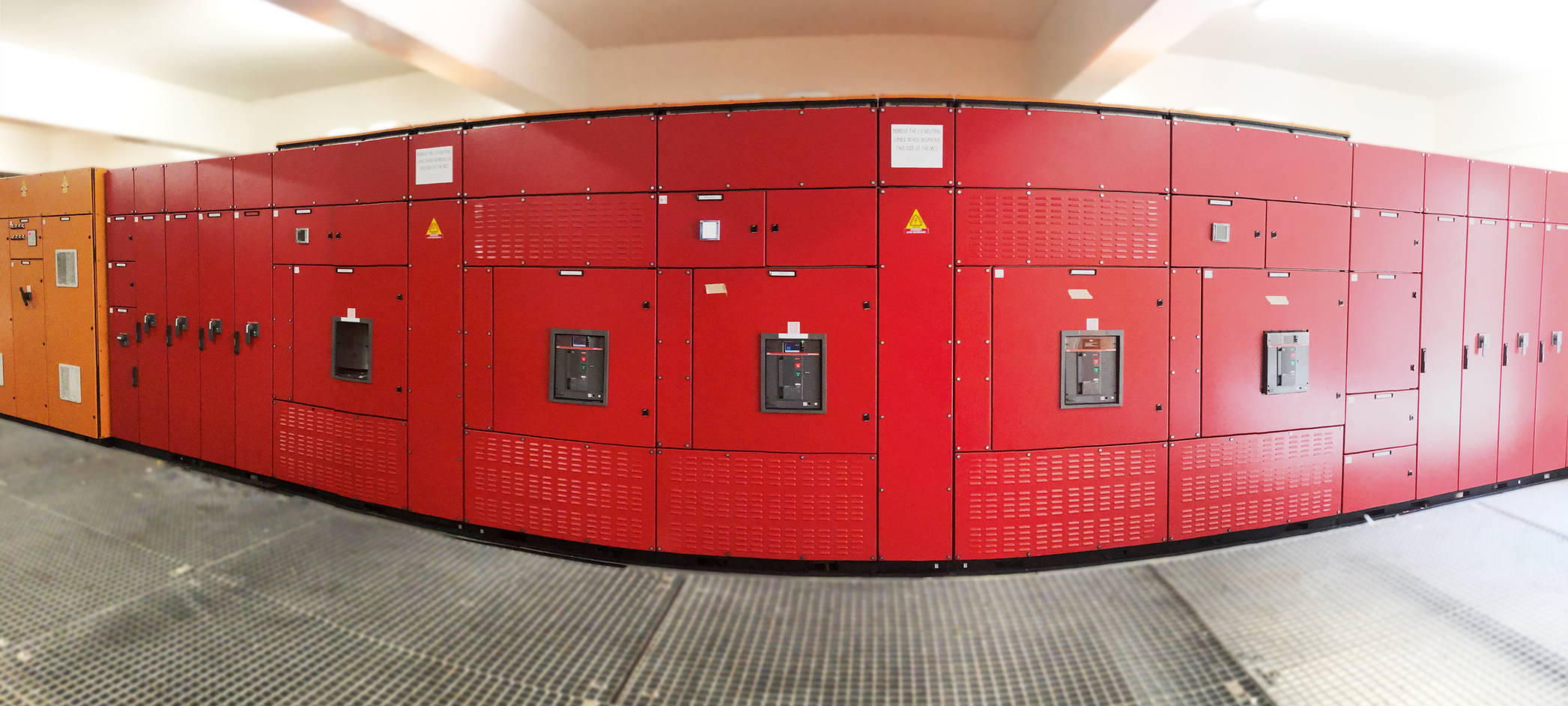 Logstrup modular Switchboard and Switchgear in red