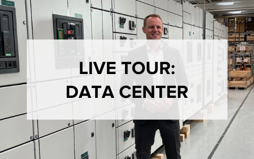 Data center switchboard solution live tour video page 2021